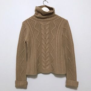 vtg🌿cashmere cable knit sweater